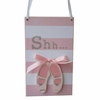 Striped Ballerina Doorhanger