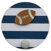 Striped Football Wall Pegs - Set of 2
