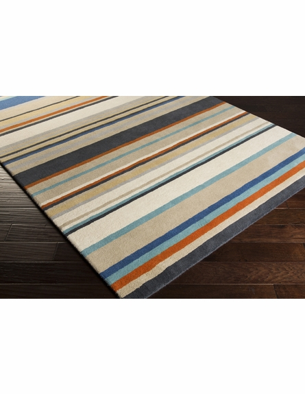 Striped Harlequin Rug in Blue