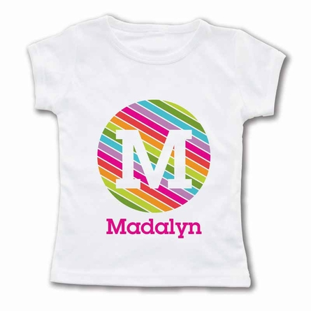 Striped Monogram Personalized T-Shirt