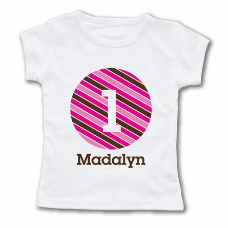 Striped Number Personalized T-Shirt