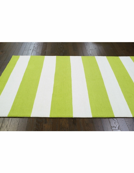 Striped Rug in Green