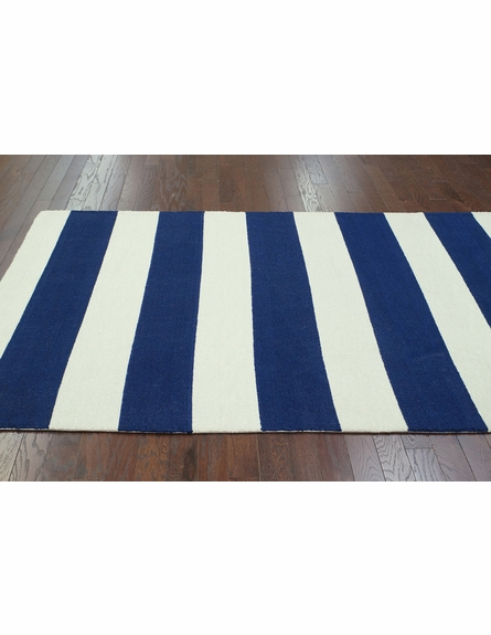 Striped Rug in Navy