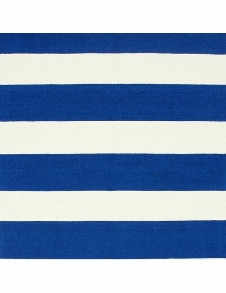 Striped Rug in Royal Blue