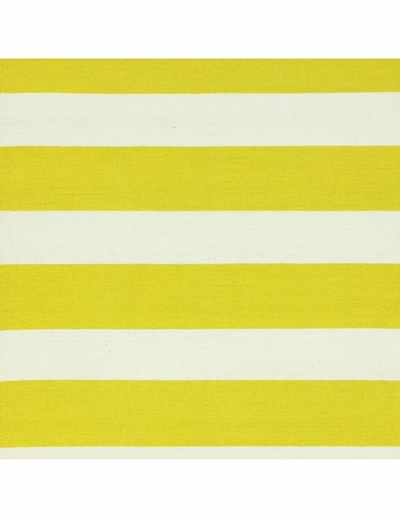 Striped Rug in Yellow