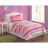 Stripes and Flowers Twin Quilt with Pillow Sham