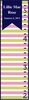Stripes Flag Girl Personalized Growth Chart