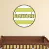 Stripes Personalized Fabric Wall Decal