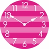 Horizontal Stripes Wall Clock