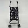 Stroller Liner in Black and White Leaf