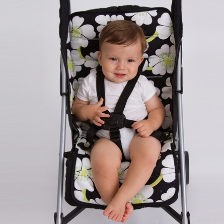 Stroller Liner in Lime Poppy