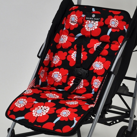 Stroller Liner in Red Poppy
