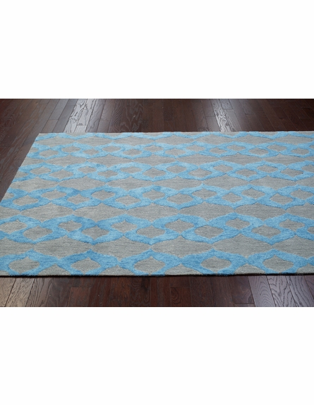 Stuart Plush Cotton Rug Blue