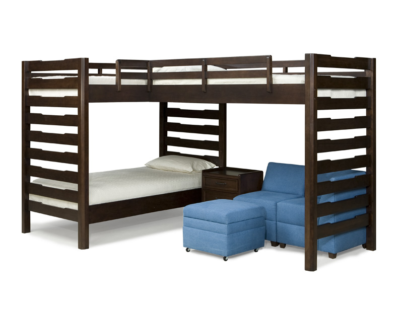 Toddler bunk beds plans - Studio Triple Corner Loft Bed Rosenberryrooms Com