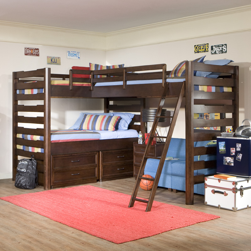 ... Furniture > Kids Beds > Kids Bunk Beds > Studio Triple Corner Loft Bed
