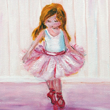 Sugar and Spice Ballerina Hand Painted Canvas