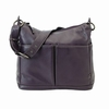 Sugar Plum Leather Hobo Diaper Bag