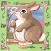 Summer Bunny Canvas Wall Art