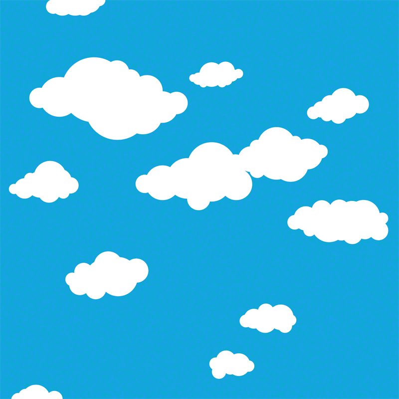 Summer Clouds Removable Wallpaper By Wallcandy Arts