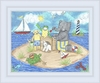 Summer Friends Framed Canvas Reproduction