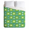 Summer Green Ikat Duvet Cover