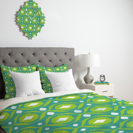 Summer Green Ikat Luxe Duvet Cover