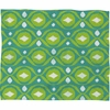 Summer Green Ikat Fleece Throw Blanket