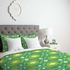 Summer Green Ikat Lightweight Duvet Cover