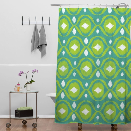 Summer Green Ikat Shower Curtain