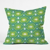Summer Green Ikat Throw Pillow