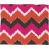 Summer Tango Chevron Fleece Throw Blanket
