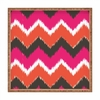 Summer Tango Chevron Square Tray