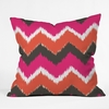 Summer Tango Chevron Throw Pillow