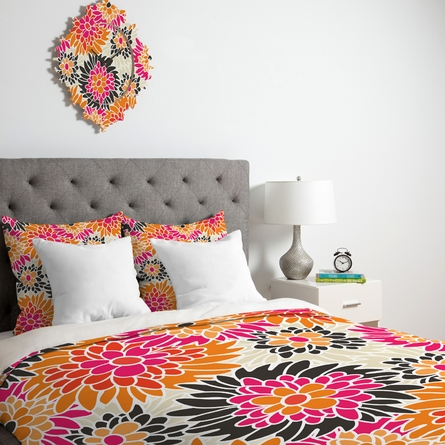 Summer Tango Floral Luxe Duvet Cover