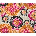 Summer Tango Floral Fleece Throw Blanket