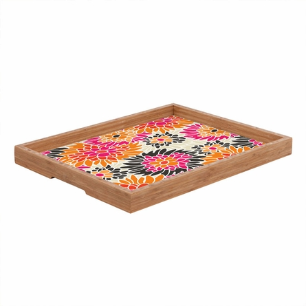 Summer Tango Floral Rectangle Tray