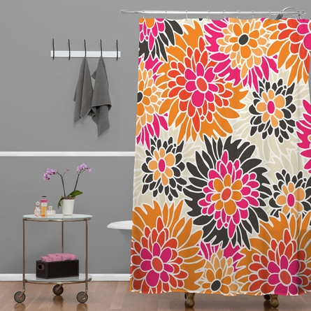 Summer Tango Floral Shower Curtain