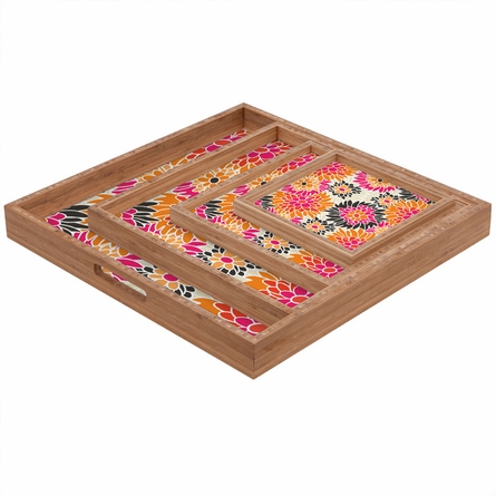 Summer Tango Floral Square Tray