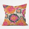 Summer Tango Floral Throw Pillow