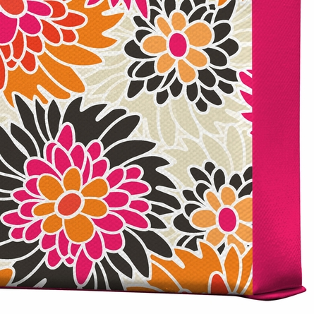 Summer Tango Floral Wrapped Canvas Art