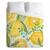 Sun Burst Flowers Lightweight Duvet Cover