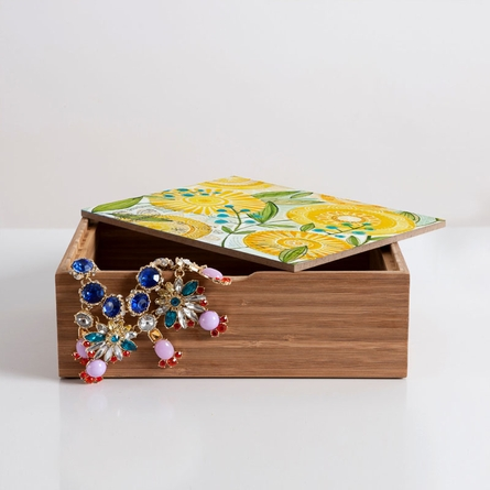 Sun Burst Flowers Jewelry Box
