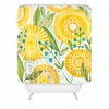 Sun Burst Flowers Shower Curtain