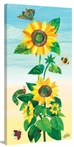 Sunflower and Bugs 2 Canvas Wall Art