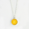 Sunny Color Personalized Initial Necklace