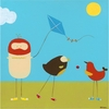 Sunny Day Birds I Canvas Reproduction