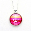 Sunset Anchor Name Pendant