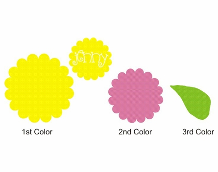 Sunshine Bloom Personalized Vinyl Wall Decal