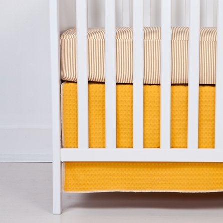 Sunshine Stripe Fitted Organic Crib Sheet