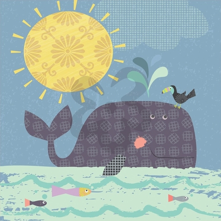 Sunshine Whale Canvas Wall Art